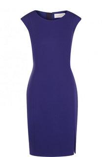 Приталенное мини-платье с разрезом BOSS