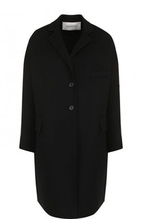 Однотонное пальто из смеси шерсти и кашемира Valentino