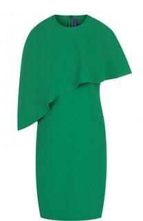 Приталенное мини-платье асимметричного кроя Ralph Lauren