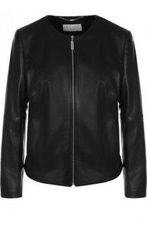 Кожаная куртка с укороченным рукавом Escada Sport