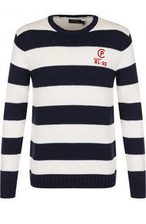 Хлопковый джемпер в контрастную полоску Polo Ralph Lauren