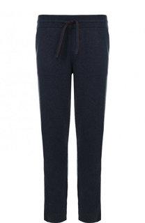Кашемировые брюки прямого кроя с поясом на кулиске Loro Piana