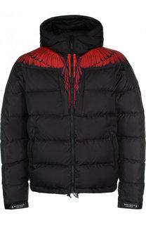 Утепленная куртка на молнии с капюшоном Marcelo Burlon