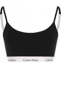Хлопковый бюстгальтер с логотипом бренда Calvin Klein Underwear