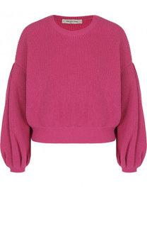 Однотонный пуловер из смеси шерсти и кашемира Valentino