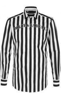 Хлопковая сорочка в контрастную полоску Dolce & Gabbana