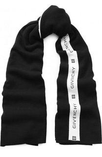 Шерстяной шарф с логотипом бренда Givenchy