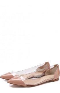 Лаковые балетки Plexi Gianvito Rossi