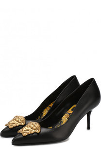 Кожаные туфли Palazzo на шпильке Versace
