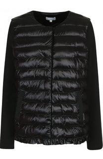 Стеганая хлопковая куртка с карманами Escada Sport