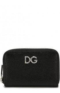 Кожаный кошелек на молнии с тиснением Dauphine Dolce & Gabbana