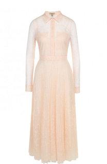 Приталенное кружевное платье-миди Burberry