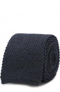Шелковый вязаный галстук Brioni