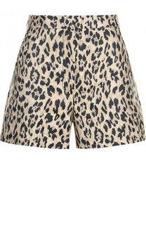 Мини-шорты с леопардовым принтом Valentino