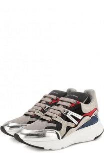 Комбинированные кроссовки на шнуровке Alexander McQueen