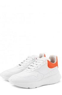 Кожаные кроссовки на шнуровке Alexander McQueen