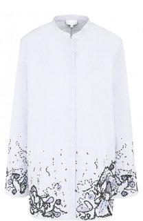 Блуза с воротником-стойкой и декорированной отделкой Escada Sport