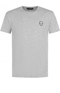 Хлопковая футболка с круглым вырезом Alexander McQueen