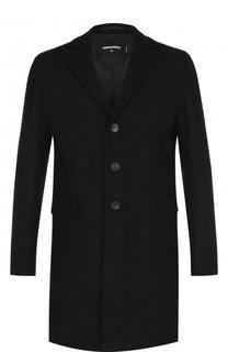 Однобортное шерстяное пальто с отложным воротником Dsquared2