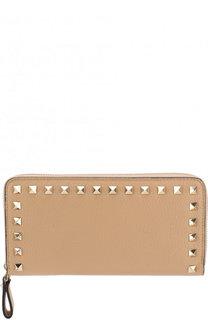 Кожаный кошелек на молнии Valentino Garavani Rockstud Valentino