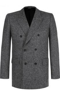 Двубортный кашемировый пиджак Alexander McQueen