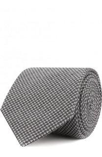 Галстук из смеси шерсти и шелка с узором Brioni