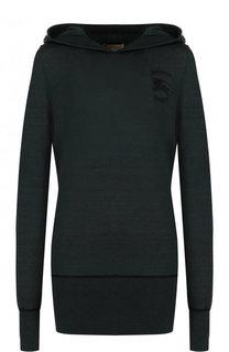 Пуловер из смеси шелка и кашемира с капюшоном Burberry
