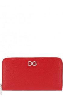 Кожаный кошелек на молнии Dolce & Gabbana