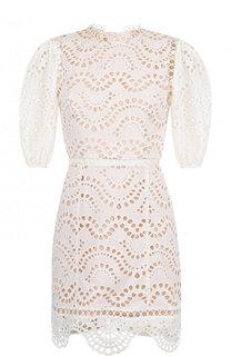 Кружевное мини-платье из хлопка Zimmermann