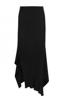 Однотонная юбка-миди асимметричного кроя Stella McCartney