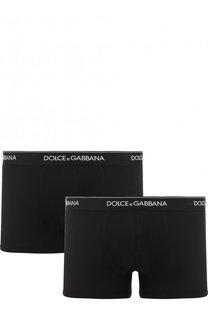 Комплект из двух хлопковых боксеров с широкой резинкой Dolce & Gabbana