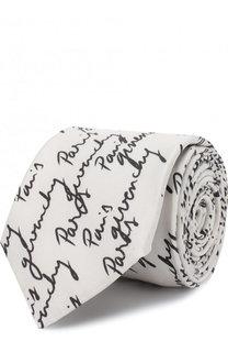 Шелковый галстук с принтом Givenchy