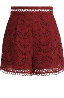Кружевные шорты из хлопка Zimmermann