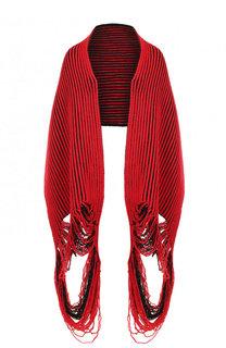 Шерстяной шарф фактурной вязки Balenciaga