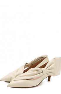 Кожаные туфли Valentino Garavani Side Bow на каблуке kitten heel Valentino