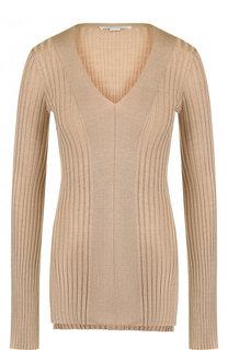 Однотонный пуловер из смеси шерсти и шелка Stella McCartney