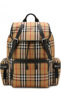 Текстильный рюкзак в клетку Vintage Check Burberry