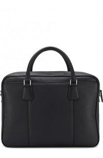 Кожаная сумка для ноутбука с плечевым ремнем Canali