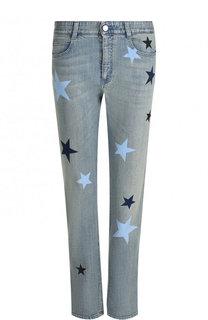 Укороченные джинсы прямого кроя с принтом в виде звезд Stella McCartney
