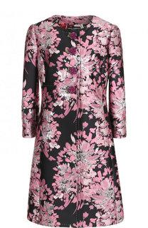 Приталенное пальто с принтом и декоративными пуговицами Dolce & Gabbana