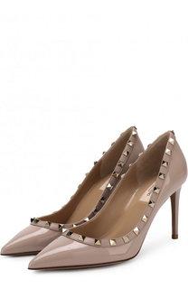 Лаковые туфли Valentino Garavani Rockstud на шпильке Valentino