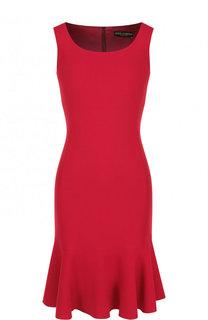 Приталенное мини-платье с круглым вырезом Dolce & Gabbana