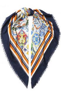 Шарф из смеси кашемира и шелка Dolce & Gabbana