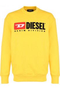 Хлопковый свитшот с принтом Diesel