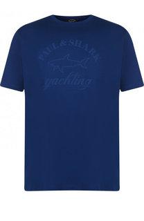Хлопковая футболка с принтом Paul&Shark