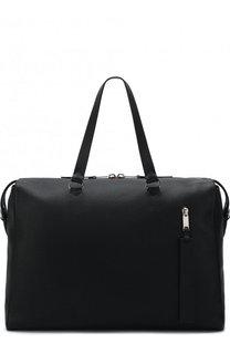 Кожаная дорожная сумка с плечевым поясом Burberry