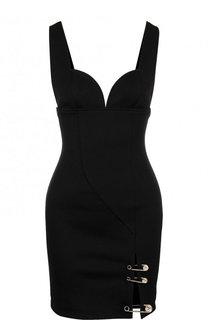 Приталенное мини-платье с декоративной отделкой Versus Versace