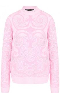 Однотонный пуловер с воротником-стойкой Versace