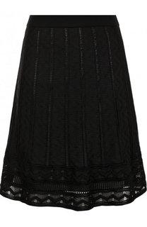 Однотонная мини-юбка фактурной вязки M Missoni