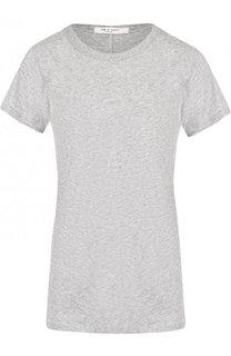 Однотонная хлопковая футболка с круглым вырезом Rag&Bone